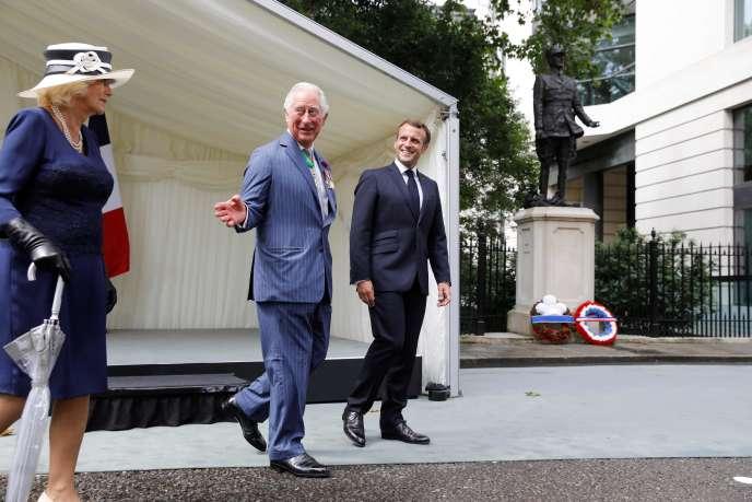 Le prince Charles et Camilla accueillent Emmanuel Macron à Londres, jeudi 18 juin.