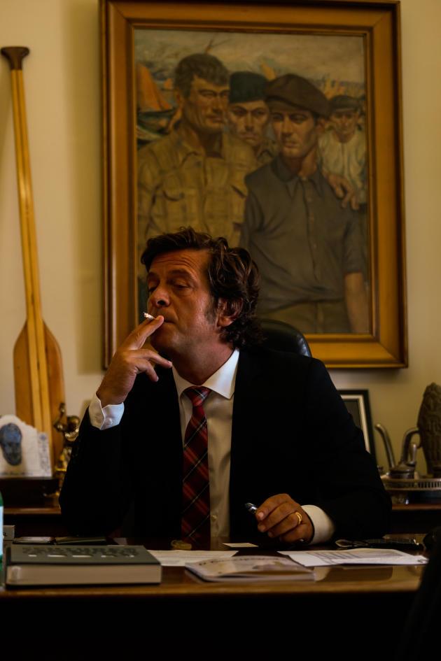 Salvador Malheira, le maire d'Ovar, dans son bureau, le 15 juin.