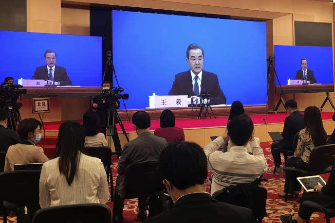 Le ministre chinois des affaires étrangères, Wang Yi, le 24 mai à Pékin.