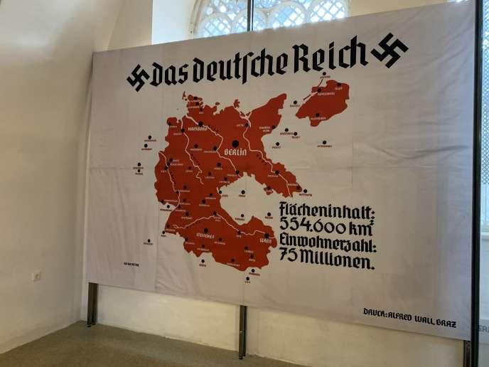 Carte du Reich nazi exposée au musée d'histoire militaire autrichien à Vienne.