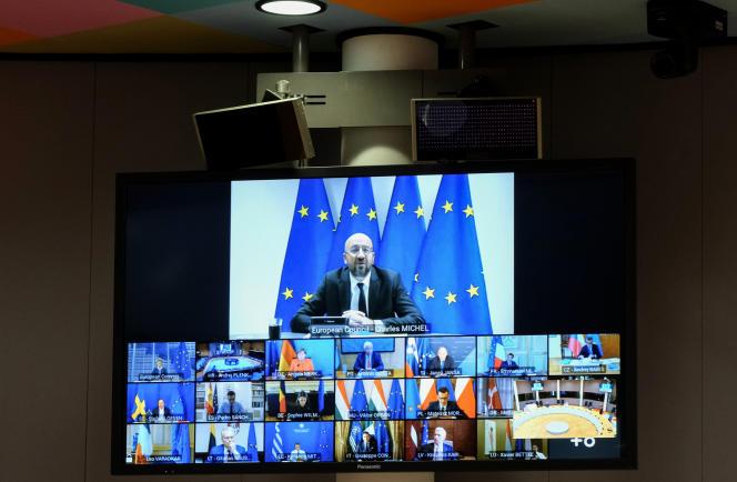 Le président du Conseil européen, Charles Michel, lors du sommet européen du 19juin.