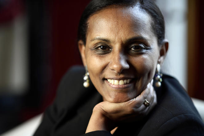 Segenet Kelemu,directrice de l'Icipe (Centre international pour la physiologie des insectes et l'écologie de Nairobi), à Paris, en mars 2014.