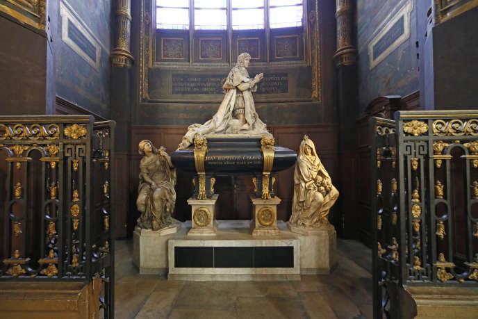 Le mausolée de Colbert à l'église Saint-Eustache, dans le 1er arrondissement de Paris.