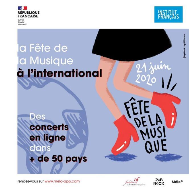 Affiche de la Fête de la musique à l'international.