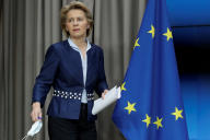 Ursula von der Leyen, présidente de la Commission européenne, à Bruxelles, le 19 juin.