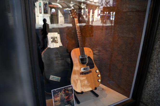 La guitare utilisée par Kurt Cobain lors du concert«Unplugged» , en 1993.