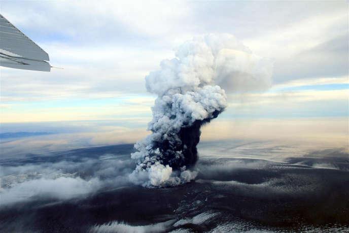 Le volcan Grimsvötn,dans le sud de l'Islande, lors de sa dernièreéruption en 2011.
