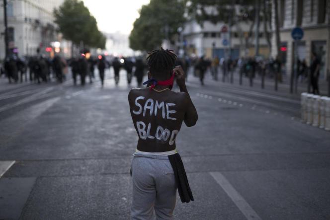 Marche contre le racisme et les violences policières à Marseille, le 13 juin 2020.