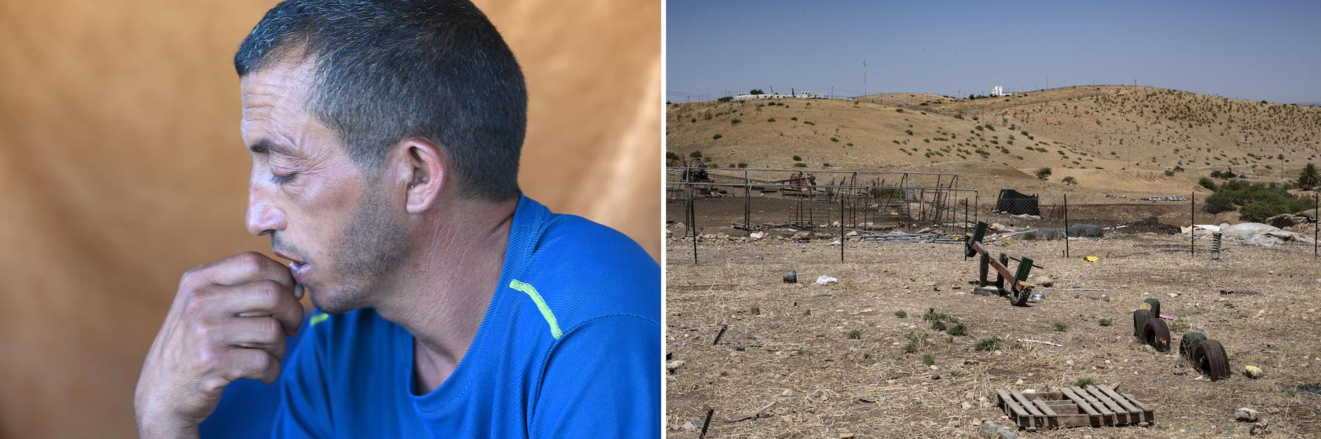 Ibrahim Najada, berger, dans lehameau bédouinAl-Maleh, situé au nord de la vallée du Jourdain, le 17 juin.
