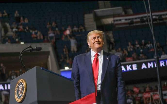 Donald Trump, samedi 20 juin lors de son meeting de Tulsa, dans l'Oklahoma.