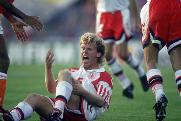 Henrik Andersen, knee injury, June 22, 1992 in Gothenburg (Sweden).