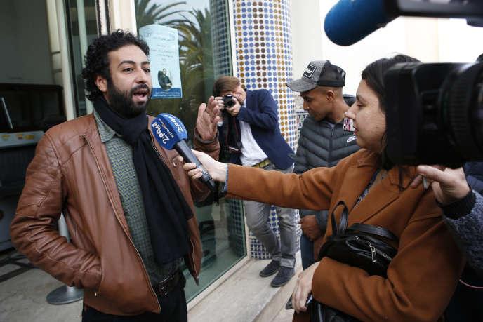Le journaliste Omar Radi, à Casablanca, le 5 mars.