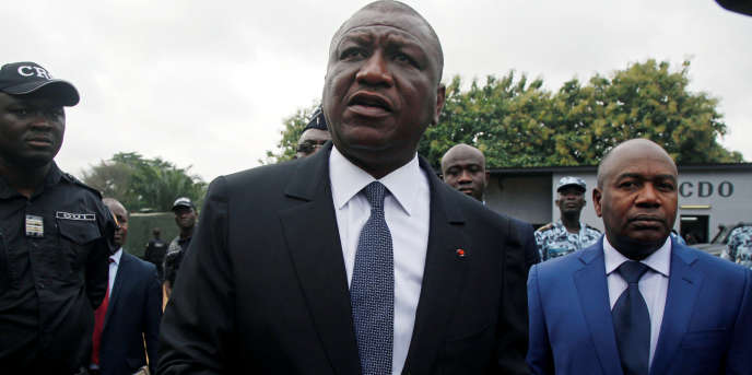Hamed Bakayoko, ministre de la défenseen 2017 à Abidjan.