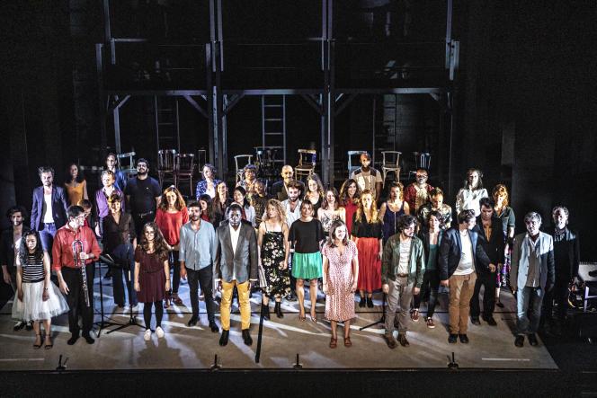 Une représentation dans le cadre du programme «Tenir paroles», le 22 juin 2020, à l'Espace Pierre-Cardin (Théâtre de la Ville) à Paris.
