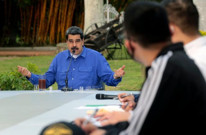 Le président Maduro lors d'une rencontre avec des membres de la Jeunesse socialiste du Venezuela, le 22 juin 2020 à Caracas.