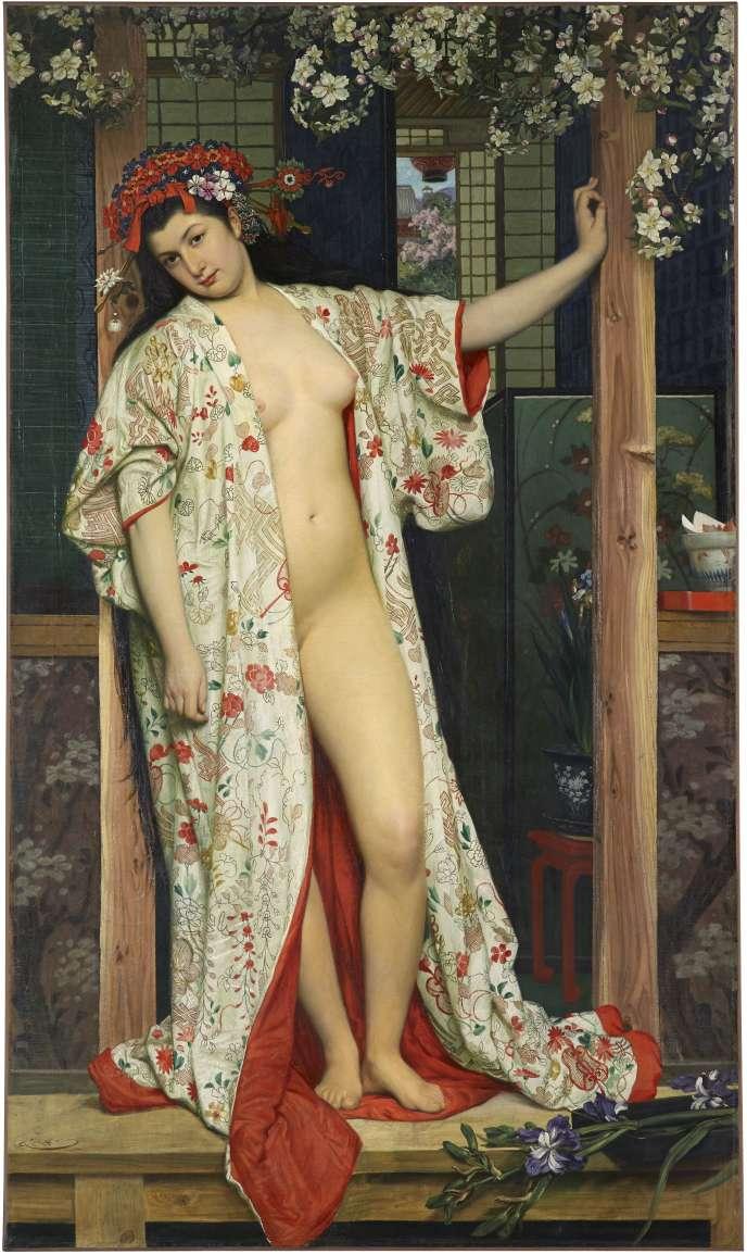 «Japonaise au bain» (1864), de James Tissot (1836-1902).
