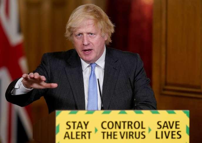 Le premier ministre britannique, Boris Johnson, au 10, Downing Street, à Londres, le 23 juin 2020.