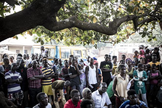 A Bissau, capitale de la Guinée-Bissau, le 24 novembre 2019 lors du premier tour de l'élection présidentielle.