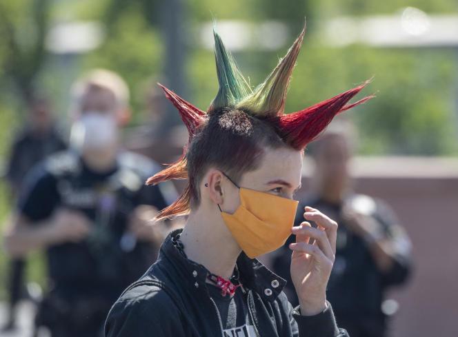 Manifestation organisée par le mouvement Fridays for Future, une initiative de grève étudiante pour le climat,à Francfort, le 15 mai.