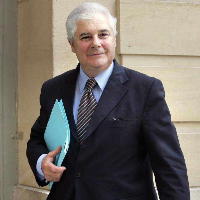Pascal Clément, alors ministre de la justice, le 12 mai 2006, à l'Hôtel Matignon, à Paris.