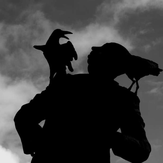 Statue d'Alfred Hitchcock érigée à Dinard (Ille-et-Vilaine).