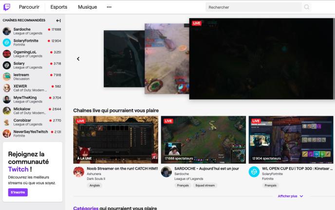 Twitch est une plate-forme de streaming de jeux vidéo.