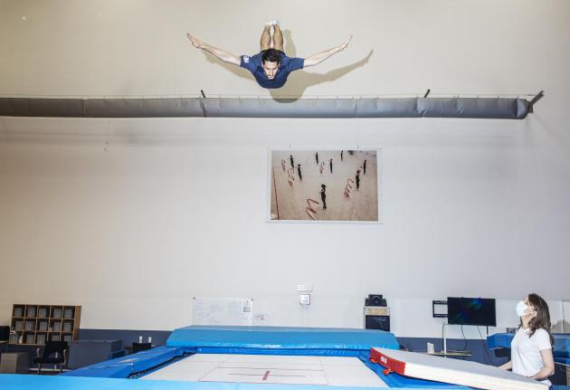 Quadruple champion de France de trampoline, Allan Morante admet,après un mois de reprise, être encore loin de son meilleur niveau.