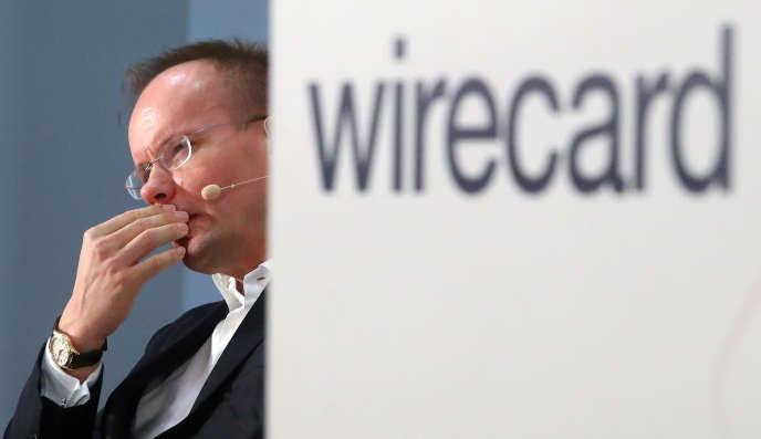 Markus Braun, PDG de Wirecard, lors de l'assemblée générale de l'entreprise, le 25 avril 2019, à Munich.