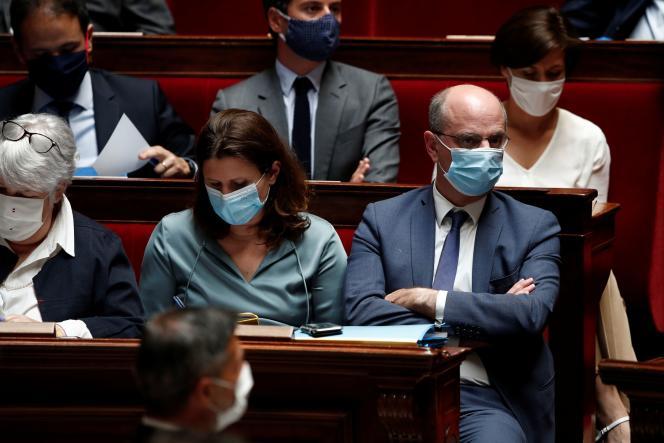 Le ministre de l'éducation nationale, Jean-Michel Blanquer, lors des questions au gouvernement, à l'Assemblée nationale, le 23 juin.