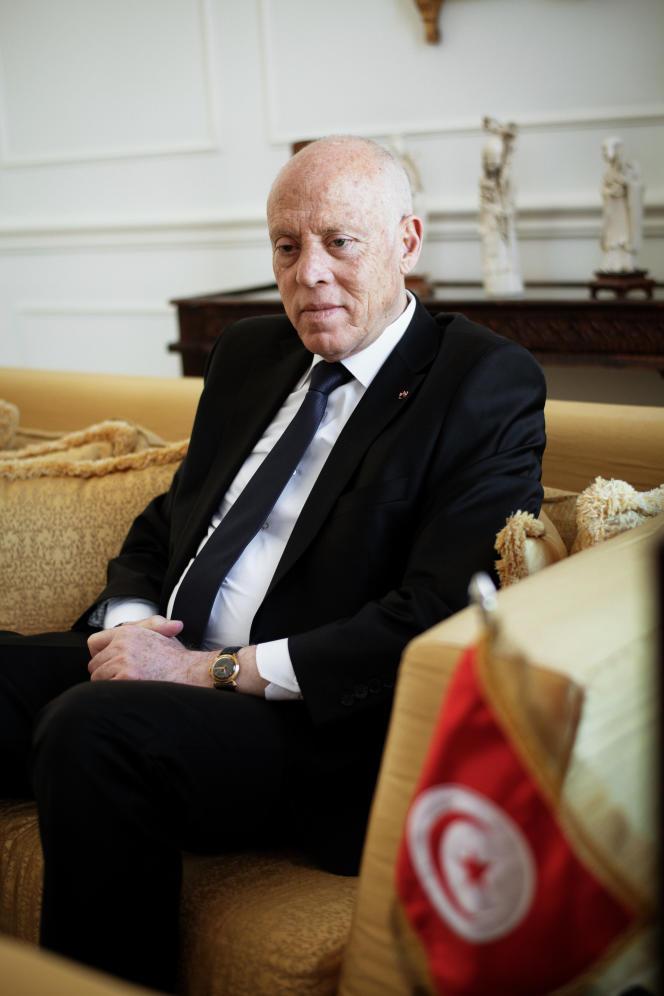 Le président tunisien Kaïs Saïed, le 23 juin à Paris.