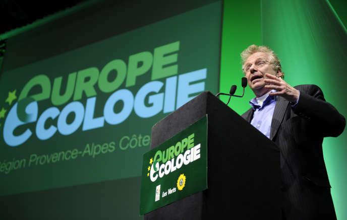 Daniel Cohn Bendit, alors coprésident du groupe des Verts au Parlement européen, le 4 mars 2010, à Aix-en-Provence.