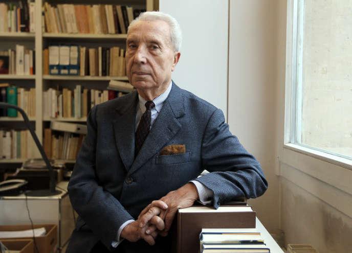 Marc Fumaroli en 2011 au Collège de France à Paris.