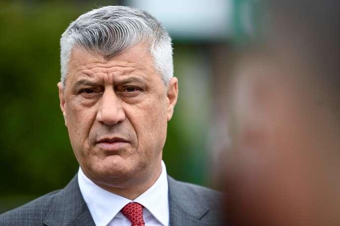 Le président du Kosovo, Hashim Thaci, à Pristina le 11 juin.