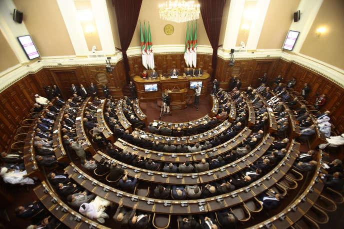 A Alger, l'Assemblée nationale populaire (APN), chambre basse du Parlement algérien.
