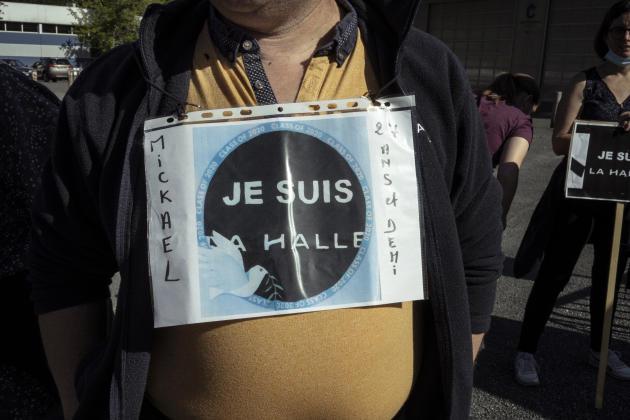 Manifestation des salariés de La Halle, à Châteauroux, le20 juin.