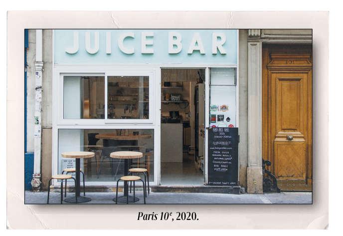 Le Bob's Juice Bar, au 15, rue Lucien-Sampaix, à Paris, dans le 10e arrondissement.
