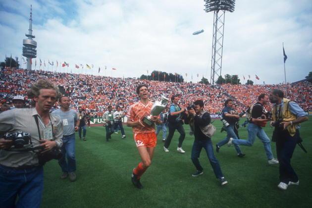 Le Néerlandais Marco van Basten, le 25 juin 1988, à Munich.