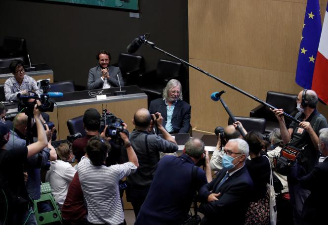 Le professeur Didier Raoult entendu par lacommission d'enquête parlementaire sur la crise sanitaire, à l'Assemblée nationale à Paris, le 24 juin.