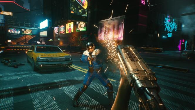 Comme dans «GTA», on peut conduire librement dans«Cyberpunk 2077», mais gare à la police en cas d'infractions répétées.