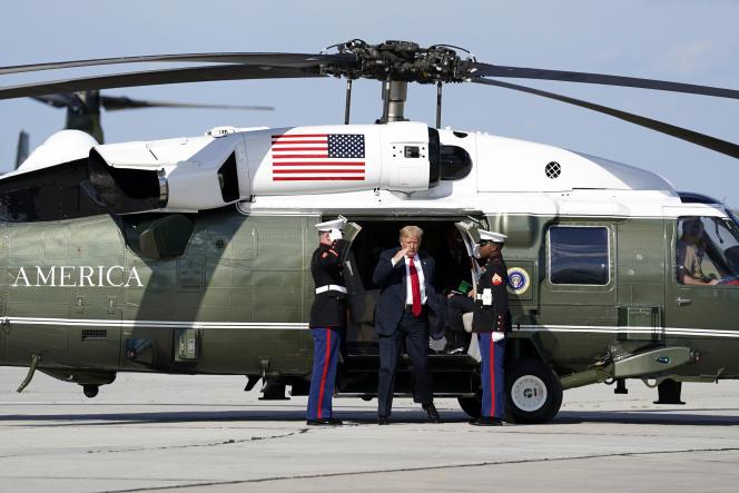 Le président américain Donald Trump en visite à Green Bay, dans le Wisconsin, le 26 juin.
