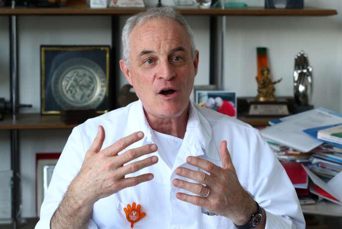 L'infectiologue et épidémiologiste suisse Didier Pittet, le 18 mai, à Genève.