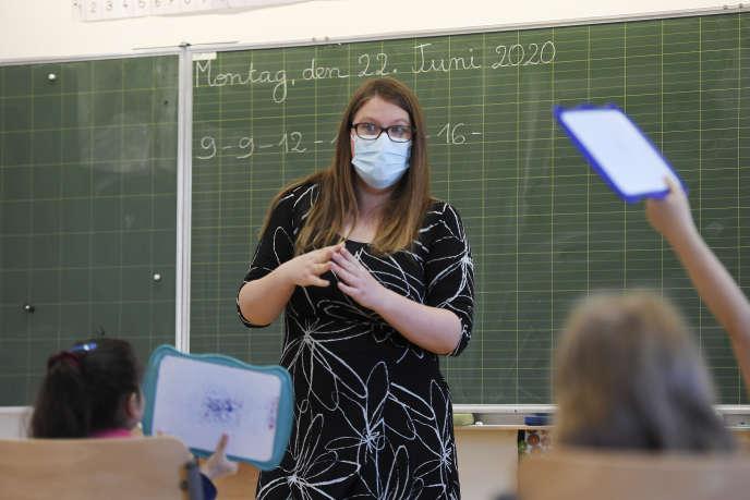A l'école primaire de Ziegelau, à Strasbourg, le 22 juin.