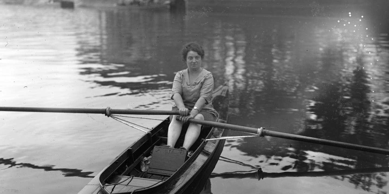 A sculpture in tribute to Alice Milliat, pioneer of female sport