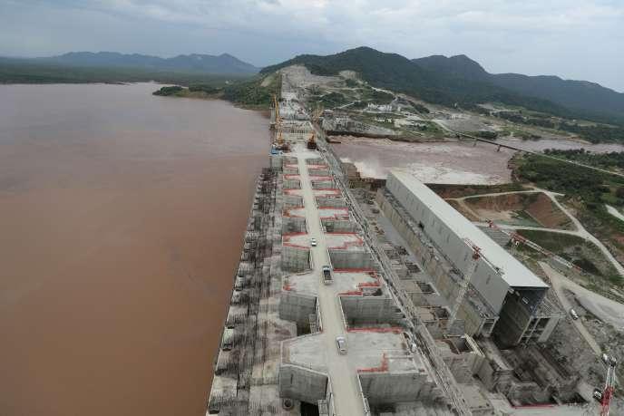 Le grand barrage de la Renaissance, sur le Nil Bleu, en Ethiopie, le 26 septembre 2019.
