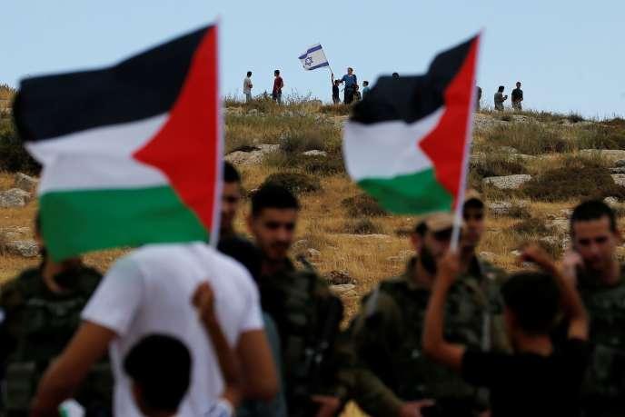 Manifestation contre le projet d'annexion de la Cisjordanie, le 19 juin à Susya, près d'Hébron.
