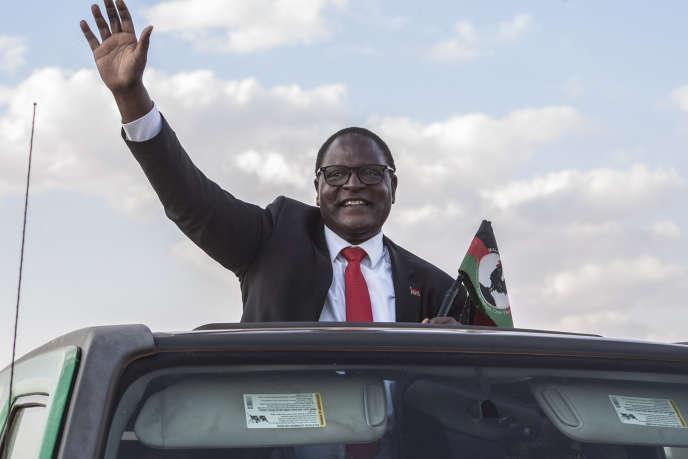Le leader de l'opposition malawite Lazarus Chakwera en campagne dans la capitale Lilongwe, le 23 juin 2020.