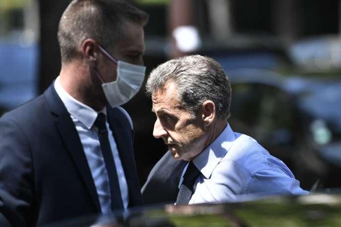 Nicolas Sarkozy à Neuilly-sur-Seine (Hauts-de-Seine), le 25 juin.