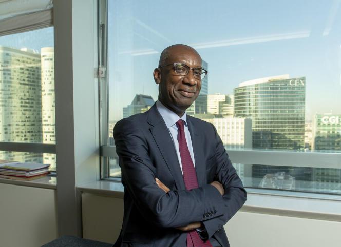Momar Nguer, ancien membre du comité exécutif de Total et conseiller de son PDG, Patrick Pouyanné, à La Défense (Hauts-de-Seine), en octobre 2018.