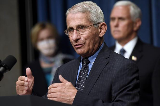 Anthony Fauci, le directeur de l'Institut américain des maladies infectieuses, lors d'une conférence de presse de la cellule de crise sur le coronavirus de la Maison Blanche, vendredi 26 juin.