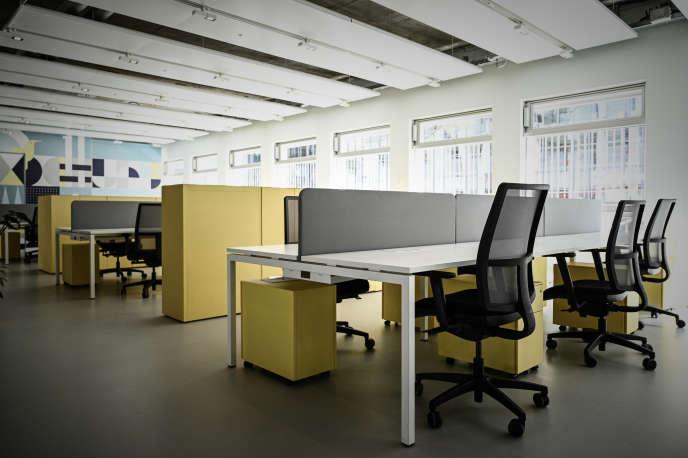 L'espace de bureaux à partager Deskopolitan, à Paris, le 27 mai.